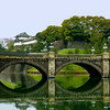 A scenic view of the Imperial Palace grounds in Tokyo.