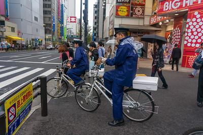 Policemen on their bikes