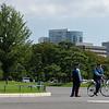 Tokyo police man on his bike