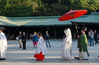 Traditional Japanese wedding ceremony, Yoyogi park