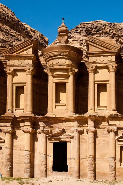 Man atop the Monastery, Petra
