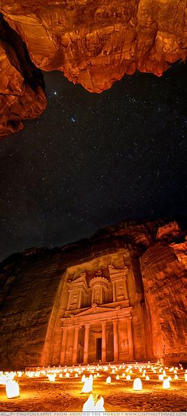 Petra At Night Under The Stars
