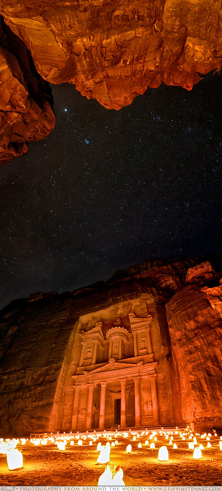 Petra At Night Under The Stars