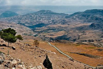 On the way to the Wadi Rum Desert...