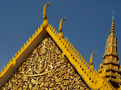 Rooftops, Royal Palace, Phnom Penh (Foto: Geir)
