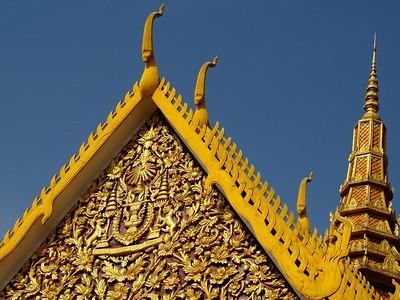 Rooftops, Royal Palace, Phnom Penh (Foto: Geir)