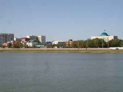 European side of the Ural River, Atyrau, Kazakstan