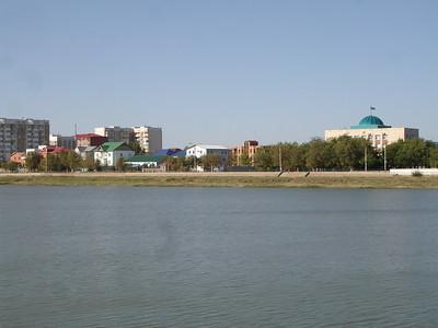 European side of the Ural River, Atyrau, Kazakstan