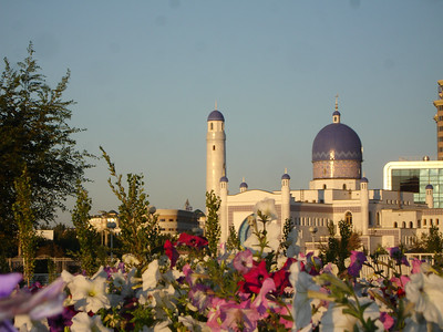 Sunrise at the Manjali Mosque, Atyrau, Kazakhstan