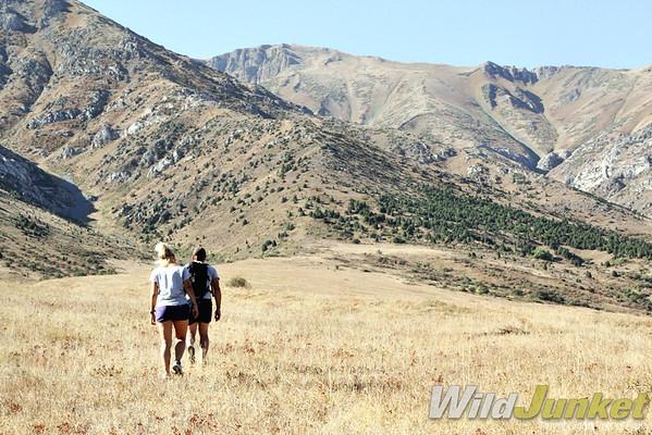 Hiking up the ridge