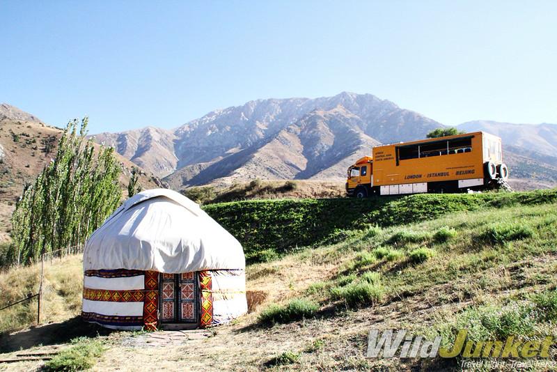 silk road travel guide - camping