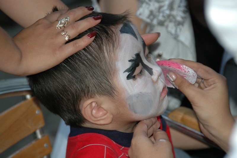 Facepainting at Almaty Zoo - Almaty, Kazakhstan