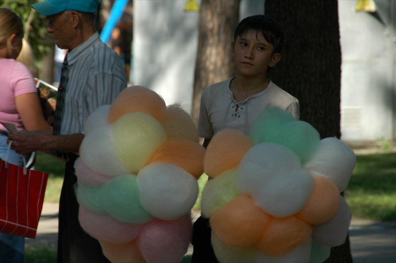 Cotton Candy at Gorki Park - Almaty, Kazakhstan