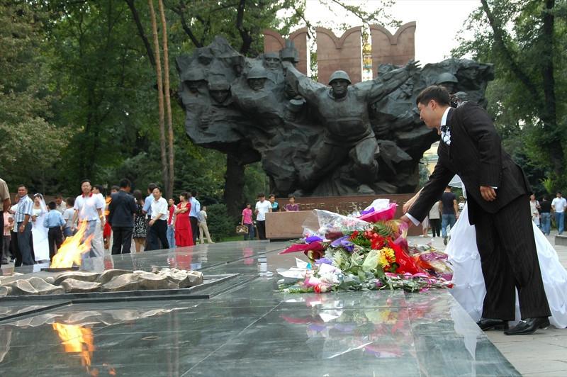 Commemorating Soviet Soldiers - Almaty, Kazakhstan
