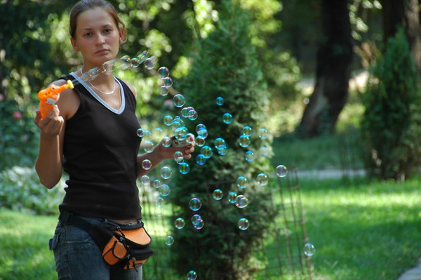Bubble Machine at Gorki Park - Almaty, Kazakhstan