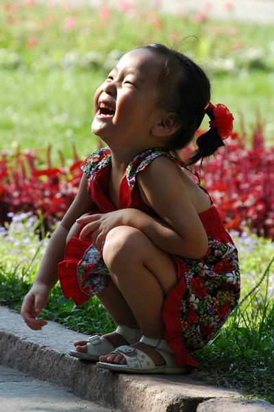 Korean Kazakh Girl at Gorki Park - Almaty, Kazakhstan