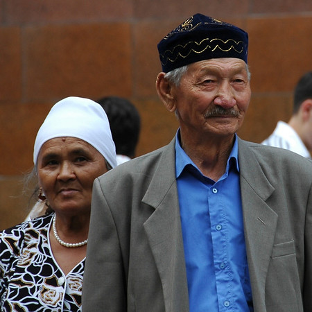 Kazakh Parents at Wedding - Almaty, Kazakhstan