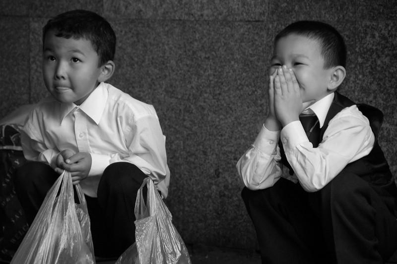 Young Boys at Zelyony Market - Almaty, Kazakhstan