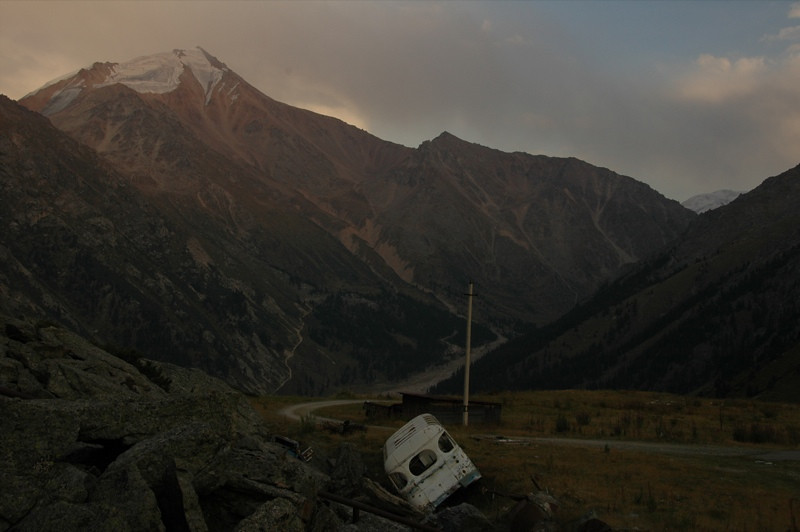 Abandoned Vehicle at Tian Shan Observatory - Almaty, Kazakhstan