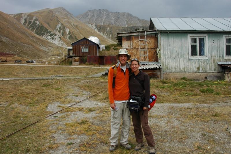 Audrey and Dan Ready to Hike - Almaty, Kazakhstan