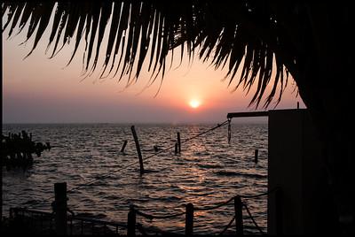 Sunset over Vembanad lake at the Zuri hotel