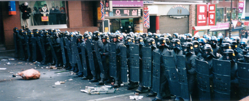 Riot Police line 1994, Seoul