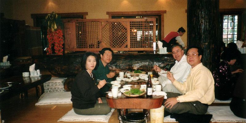 a great dinner with friends, photo taken in 1997 and still great old friends!