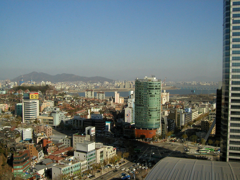 Seoul 2004 looking towards the Han River from the COEX Intercontinental Hotel