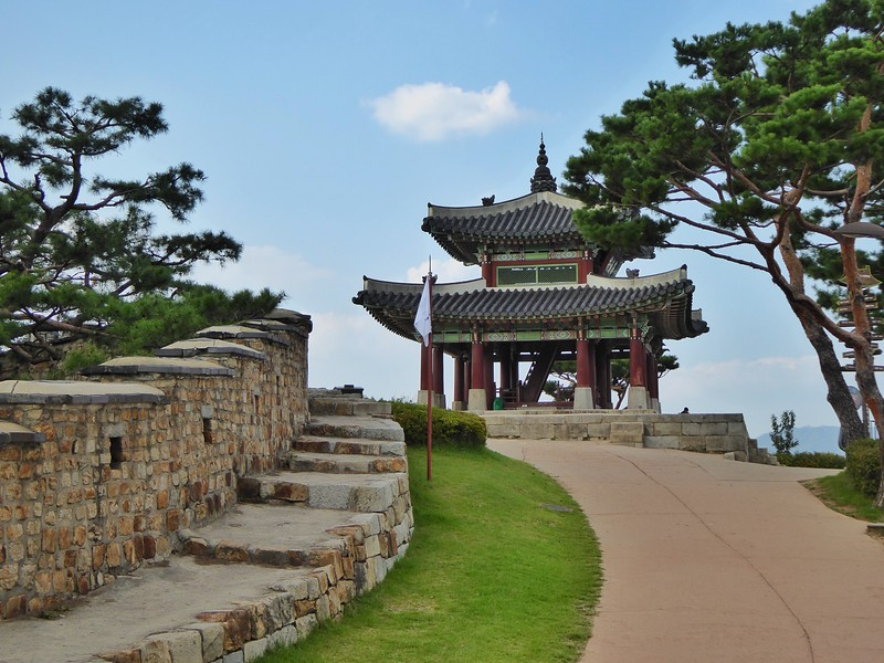 Guard Post on Hwaseong Fortress Wall in Suwon