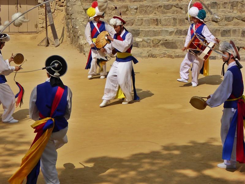 Korean Farmers Folk Dancing in Suwon