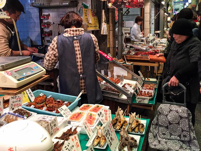 Exploring Nishiki Market in Kyoto Japan