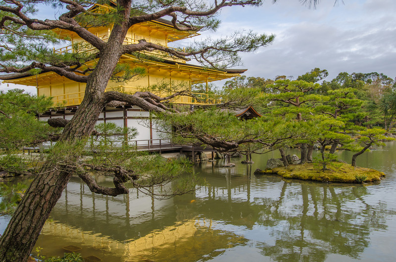 "The famed Kinkaku-ji Temple, or ""Temple of the Golden Pavilion"" 