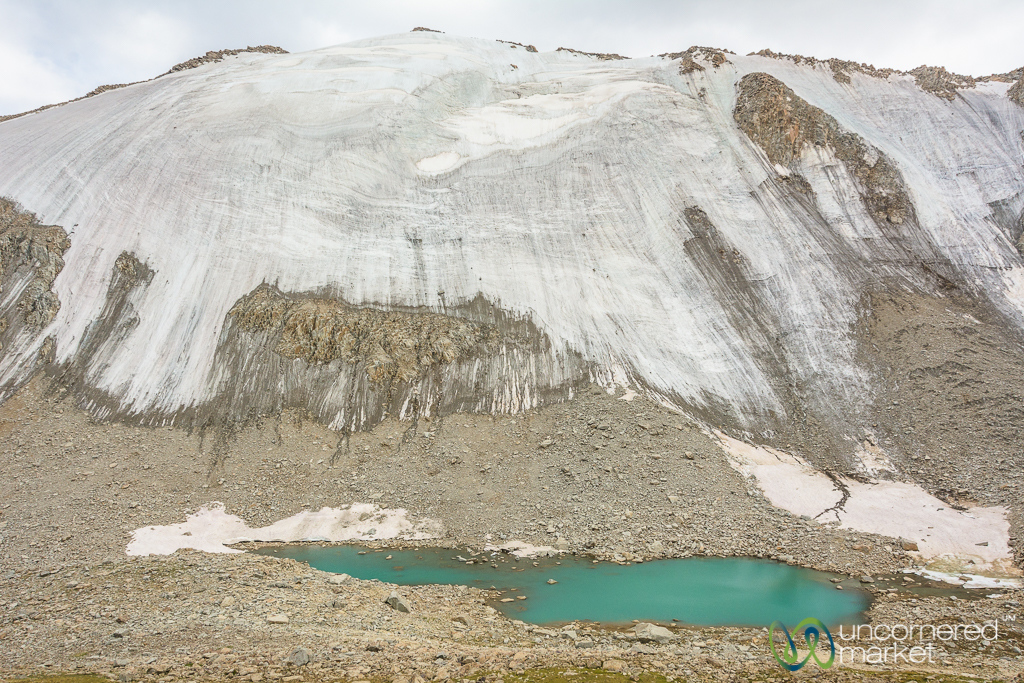 Glacier and Alpine Lake - Koshkol Lakes Trek, Alay Mountains, Kyrgyzstan