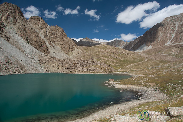 Alpine Lake on Koshkol Lakes Trek - Alay Mountains, Kyrgyzstan