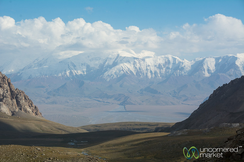 View of Pamir Mountains - Koshkol Lakes Trek, Alay Mountains, Kyrgyzstan