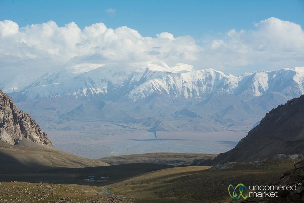 View of Pamir Mountains - Koshkol Lakes Trek, Alay Mountains, Kyrgyzstan
