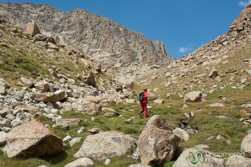 Steep Ascent, Koshkol Lakes Trek - Alay Mountains, Kyrgyzstan