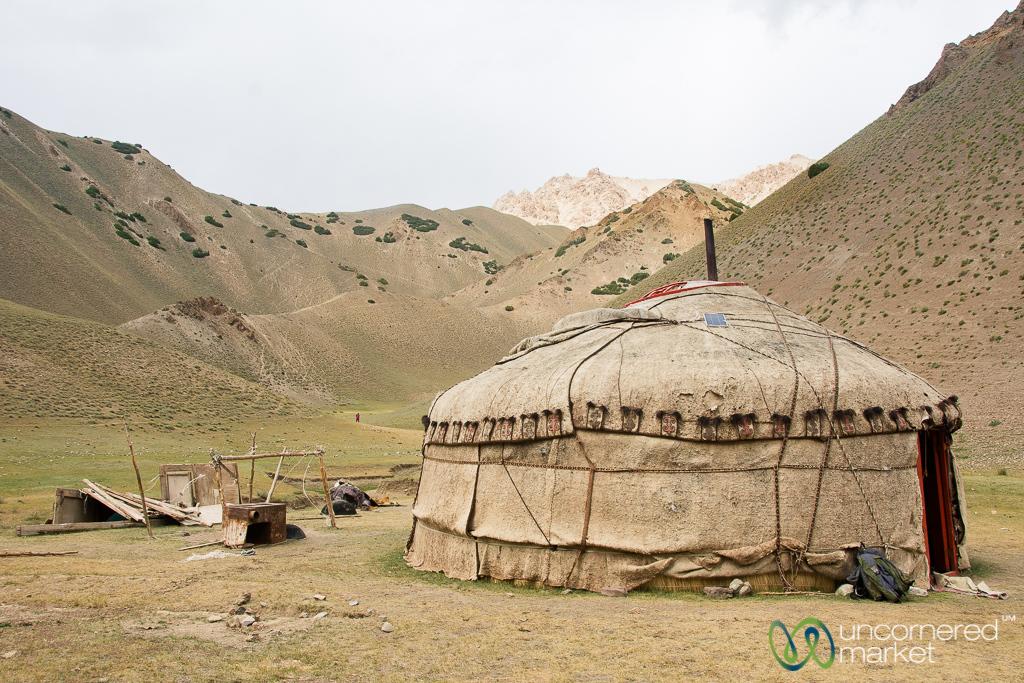 Yurt in the Alay Mountains - Kyrgyzstan