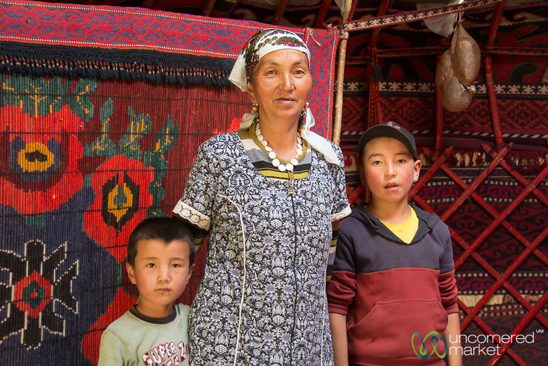 Grandmother in a Yurt in the Alay Mountains, Kyrgyzstan