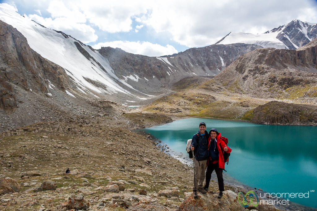 Dan and our Guide at Koshkol Lakes - Alay Mountains of Kyrgyzstan