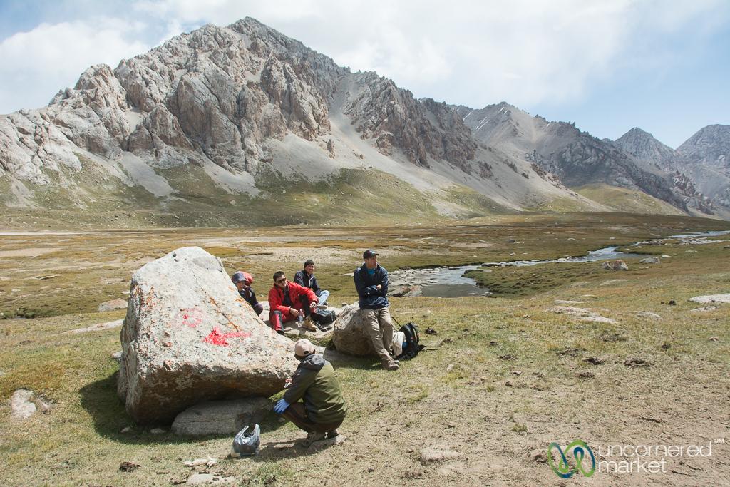 Snack Time, Koshkol Lakes Trek - Alay Mountains of Kyrgyzstan