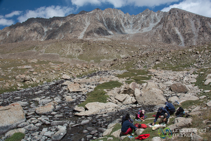 Picnic Lunch, Koshkol Lakes Trek - Alay Mountains, Kyrgyzstan