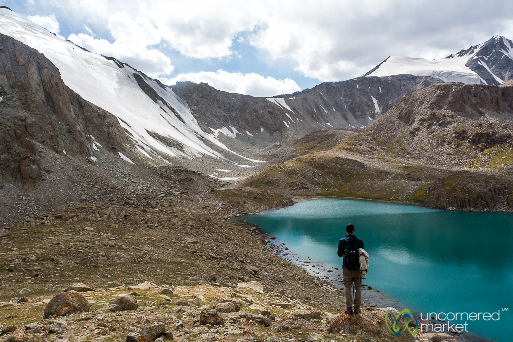 Alpine Lake and Glacier Views - Koshkol Lakes Trek, Alay Mountains, Kyrgyzstan