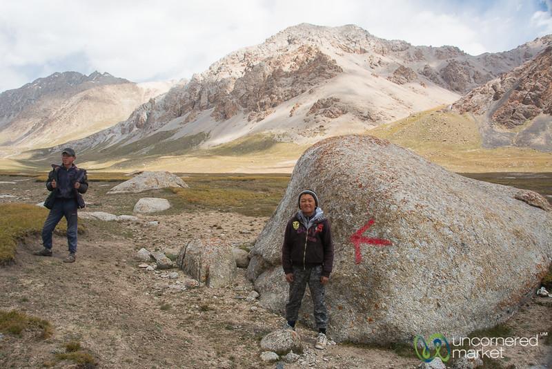 Koshkol Lakes Trek, Local Kids - Alay Mountains, Kyrgyzstan