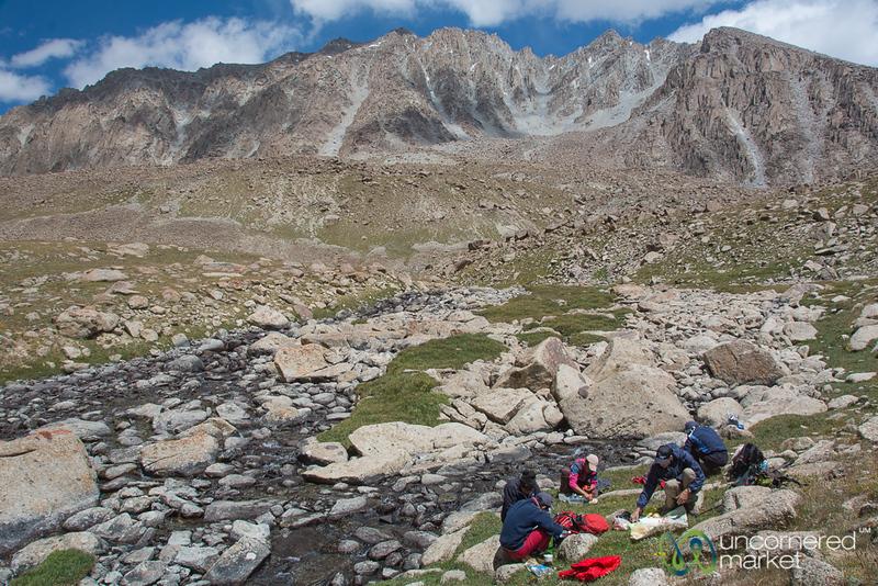 Picnic Lunch, Koshkol Lakes Trek - Alay Mountains, Kyrgyzstan