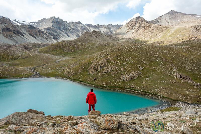 Enjoying the Lake Views - Koshkol Lakes Trek, Alay Mountains, Kyrgyzstan