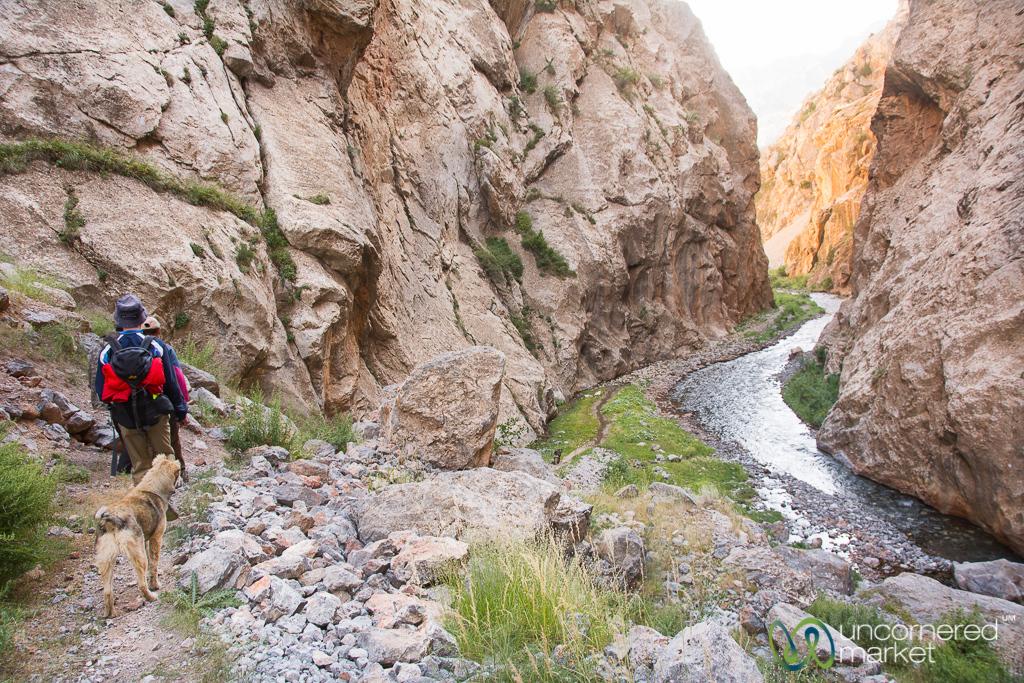 Hiking Through Canyon to Daroot Korgon Village - Alay Mountains, Kyrgyzstan