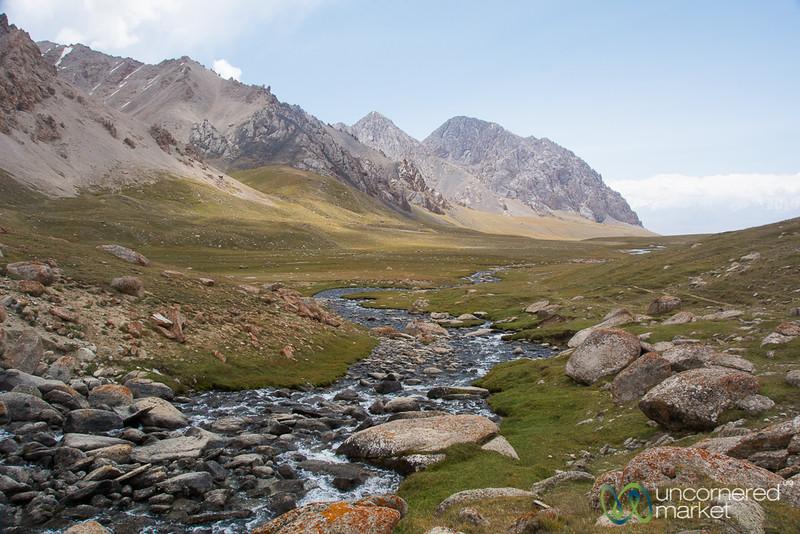 Following the Stream, Koshkol Lakes Trek - Alay Mountains, Kyrgyzstan