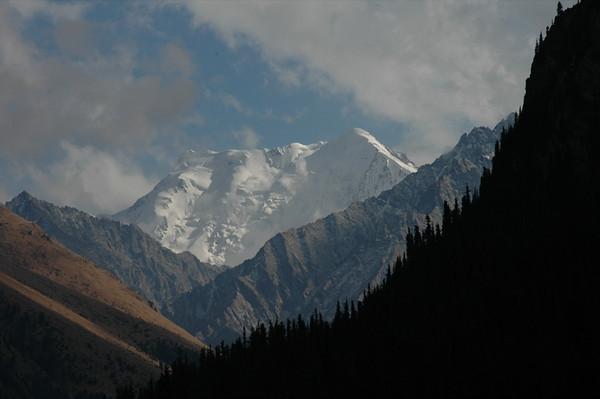 Snow-Covered Peaks - Altyn, Arashan Kyrgyzstan