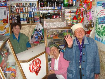 Kyrgyz Women at Shop in Karakol - Kyrgyzstan